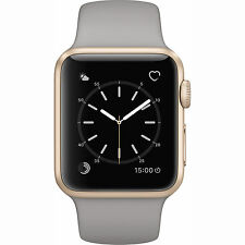 NEW Apple Watch Series 1 38mm Gold Aluminum Case Concrete Sport Band (MNNJ2LL/A)