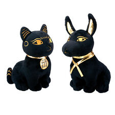 Set of 2 Large Egyptian God Anubis & Bastet Stuffed Plush Dolls.Soft Cuddly Cute
