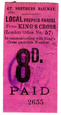 (I. B) GREAT Northern Railway: locale pacco 8d (KING'S CROSS)