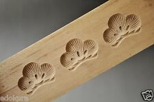 ANTIQUE JAPANESE KASHIGATA Wooden Hand Carved Cake Mold w/Cover - Pine Tree
