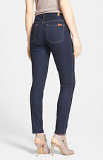 NWT 7 FOR ALL MANKIND The High Waist Super Skinny Jeans Size 28 Rich Dark Rinse