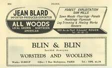 1953 Blin And Blin Worsteds And Woollens  Rouen Jean Blard Ad