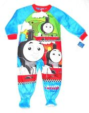 THOMAS THE TRAIN Sz 2T FOOTED PAJAMAS BLANKET SLEEPER PJS Toddler Boys ~ NWT