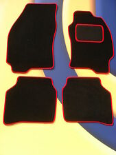 FORD MONDEO MK4 2007 - 2012 BLACK WITH RED EDGING QUALITY CAR MATS WITH 2 CLIPS