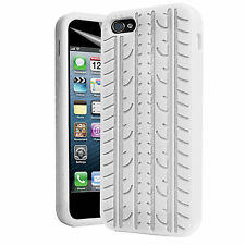Silicone Tyre Print iPhone 4/4S White