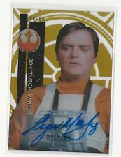 Angus MacInnes Topps Star Wars High Tek Autograph Card Auto Gold Rainbow /50
