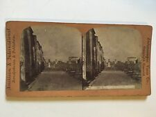 Stereoscopic Stereo View Card of Pompeii Italy, Court of Justice  Ref029