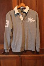 Vintage Polo Ralph Lauren Big Pony Rugby Shirt Long Sleeve (14-16) Youth L Men S