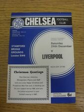 24/12/1966 Chelsea v Liverpool  (Token removed). Condition: We aspire to inspect