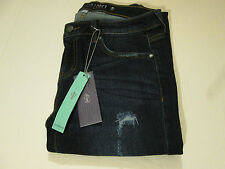 JENNIFER LOPEZ STRETCH DISTRESSED BOYFRIEND JEANS MS SZ 0 LONG-NWT