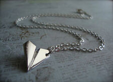 ONE DIRECTION Harry Styles PAPER AIRPLANE Silver Necklace Pendant Plane