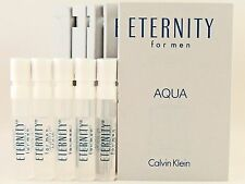 CALVIN KLEIN ETERNITY AQUA FOR MEN 1.2ml .04oz x 5 COLOGNE SPRAY SAMPLE VIAL LOT