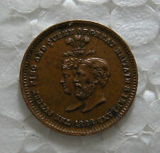 A MEDAL TO CELEBRATE THE SILVER WEDDING OF EDWARD THE 7TH & ALEXANDRA 1888 -X.F