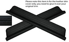 BLACK STITCH 2X FRONT DOOR SILL TRIM SKIN COVERS FITS HONDA CIVIC 95-00 5DR