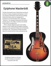 The 1930s Epiphone Masterbilt + 1962 Granada electric guitar 6 x 8 article