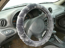 Sheepskin Steering Wheel Cover Covers - Silver