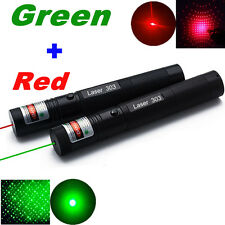 10 Miles Military Green + Red 1mW Laser Pointer Pen Light Visible Beam Focus 303