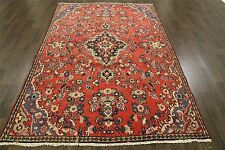 Traditional Vintage Persian Wool  4.9 X 7.5 Oriental Rug Handmade Carpet Rugs