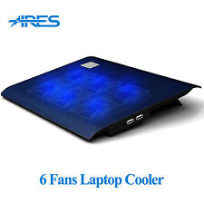 "ARES N2 6 Fans Laptop Cooling Pad Cooler For 11"" 12"" 13"" 13.3"" 14"" Inches Laptop"