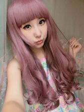 Long Curly Wavy Cosplay Party Heat Resistant Hair Full Wigs Anime Ombre Wig