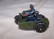 Vintage Dinky Toys Military motorcycle with side car 1940's Moccano Ltd England