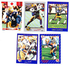 GREG BATTLE WINNIPEG BLUEBOMBERS CFL LOT OF 5 CFL HOF'ER RC