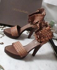 UGG CYNTHIA Flower Butterfly Weave Leather Platform Heel Dress Shoes Italy 7 NWT