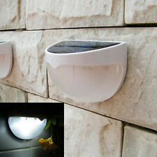 1X 6 LED SOLAR SUN POWERED GUTTER FENCE DOOR WALL LIGHTS OUTDOOR GARDEN LAMP
