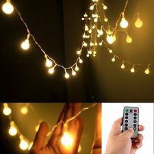 Remote & Timer battery operated 5M 50 LED globe string fairy light, warm white