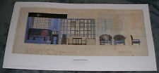 CHARLES RENNIE MACKINTOSH - WILLOW TEA ROOMS DUG OUT PRINT - GLASGOW STYLE