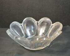 Vintage Lalique French Crystal Bowl with Shells