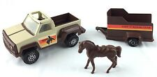 "Tonka Toys 1979 Lazy ""T"" Riding Team PICKUP and HORSE TRAILER with Horse!"
