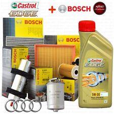 Kit tagliando olio CASTROL EDGE 5W30 5LT + 4 FILTRI BOSCH AUDI A4 (B8) 2.0 TDI