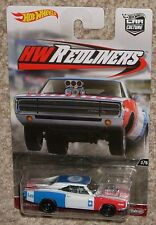 HOT WHEELS Car HW Redliners '70 Dodge Charger R/T White Real Riders MOC Toy