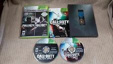 CALL OF DUTY BLACK OPS & BLACK OPS II COMBO - XBOX 360 PLUS MEDAL Free Shipping!