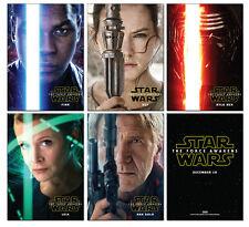 STAR WARS The Force Awakens 5 Card Promo Set Kylo Ren Leia Han Finn Rey