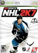 XBOX 360 NHL 2K7 Video Game 2007 07 hockey sports online multiplayer COMPLETE