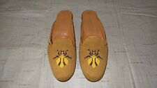 "SO CUTE! $450 Stubbs and Wootton Needlepoint ""WASP"" Mules Slippers Loafers Shoes"