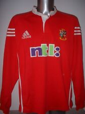 British LIONS VINTAGE 2001 NTL ADIDAS L / S XXL Rugby Union Maglia Jersey TOP