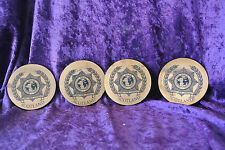 Set of 4 Coasters Copper Toned Scotland International Police Association IPA
