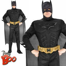 Deluxe Dark Knight Batman Large Mens Fancy Dress Adult Superhero Costume Outfit