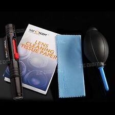4in1 Professional Lens Cleaning Kit Pen Blower Paper Cleaner Set For Canon Nikon