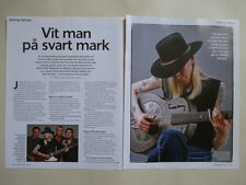 Johnny WInter Jimi Hendrix Johnny Cash clippings Sweden Swedish