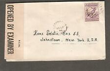 Canada Newfoundland May 1944 WWII PC90 DC/37 censor cover Lethbridge to NY