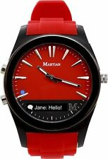 Martian Watches Notifier Smartwatch - Red~for select Android and Apple iOS NEW