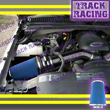 99 00 01 02-07 CHEVY GMC CADILLAC TRUCKS SUVS COLD BLK AIR INTAKE KIT Black Blue