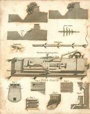 1802  Machine For Cutting Files Fireplaces Fistularia Copperplate