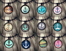 12x Necklaces Wholesale Bulk Fashion Jewelry Anchor Design Necklace Pendant