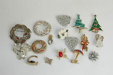Lot of (17 Pc.-2 shoe Acces. set, 15 Pins) Ladies  Pins or Brooches; All Seasons
