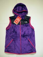 New tag Girls North Face Pixie Purple Oso Hoodie Fleece Winter Vest Jacket XL